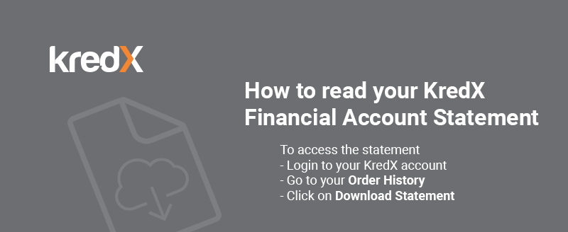 Understanding your KredX Financial Account Statement